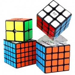 QiYi MoFangGe 4 Magic Cubes Bundle - 2x2, 3x3, 4x4, 5x5 Gift Box