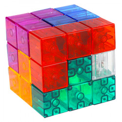 YJ Magic Cube Building Blocks Magnetic Transparent