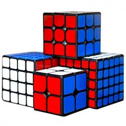 ShengShou Mr. M 2x2, 3x3, 4x4, 5x5 Black Bundle