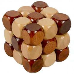 Wood Snake Cube Puzzle