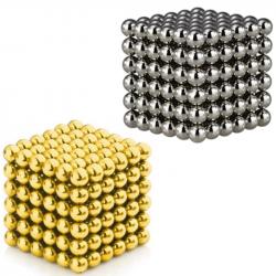 2 x Neo Cubes 216 stk. 5mm Magnetic Balls Bundle - Gold & Silver