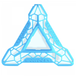 QiYi DNA Cube Stand Blue