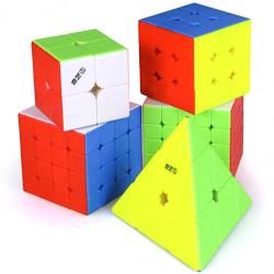 QiYi MS Series Bundle Stickerless - 2x2, 3x3, 4x4, 5x5 & Pyraminx