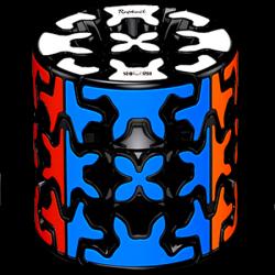 QiYi Gear Cylinder Black (Tiled)