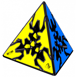QiYi Gear Pyraminx Black (Tiled)