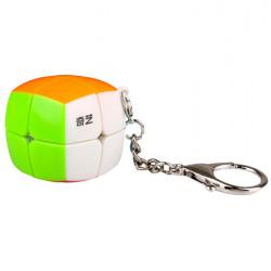QiYi Pillowed 2x2 Keychain Cube Stickerless