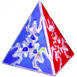 QiYi Gear Pyraminx Transparent (Tiled)