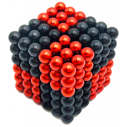 Neo Cubes 216 stk. 5mm Magnetic Balls Mix Colour Black & Red