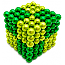 Neo Cubes 216 stk. 5mm Magnetic Balls Mix Colour Green