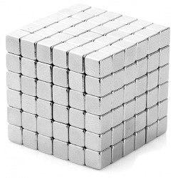 Neo Cubes 216 stk. 5mm Magnetic Balls Square Pieces Silver