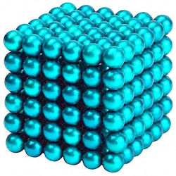 Neo Cubes 216 stk. 5mm Magnetic Balls Turkis
