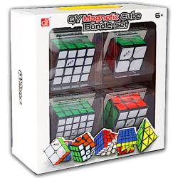 QiYi Magnetic 2x2-5x5 Cube Bundle Set Black