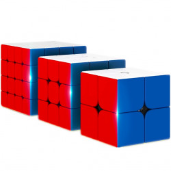 MoYu RS2, RS3, RS4 Magnetic Stickerless Bundle - 3 MoYu Cube Puzzles