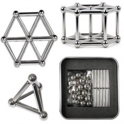 NeoSticks Magnetic Silver - 63 Pieces