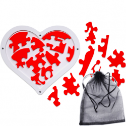 Love Heart Puzzle (18 Pieces)