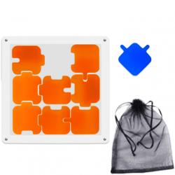 Pillowed Jigsaw Puzzle Orange (9 Pieces)