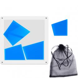 Trapez Puzzle Blue (4 Pieces)