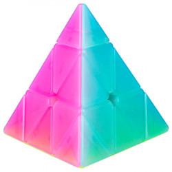 QiYi Qiming Pyraminx Jelly Transparent