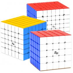 YJ MGC 5x5, 6x6, 7x7 Magnetic Bundle Stickerless - 3 Magic Cubes