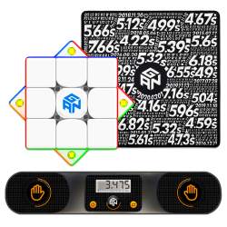 GAN Smart Cube Bundle (GAN 356I Carry, Smart Timer, Mat)
