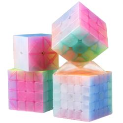 QiYi Neon 2x2, 3x3, 4x4, 5x5 Bundle Jelly Transparent