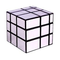 YuXin Black Kirin 3x3 Mirror Cube Silver